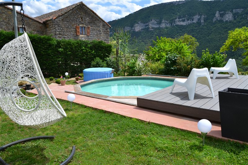 Bed and Breakfast Pool jacuzzi gorges du Tarn Millau Aveyron Lozere ...
